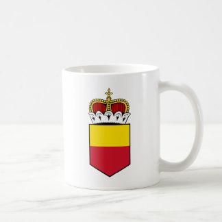 liechtenstein shield classic white coffee mug