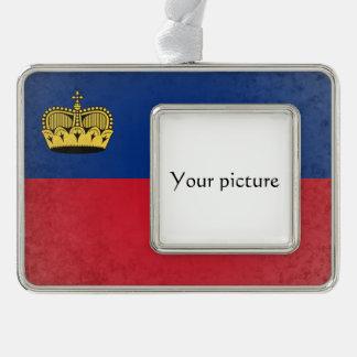 Liechtenstein Silver Plated Framed Ornament