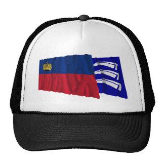 Liechtenstein & Triesen Waving Flags Mesh Hats