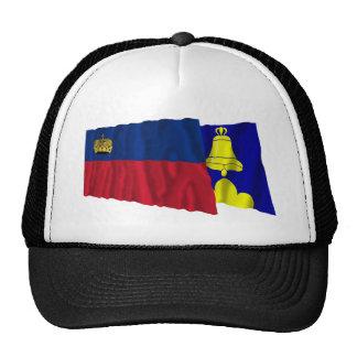 Liechtenstein & Triesenberg Waving Flags Mesh Hats