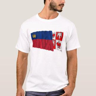 Liechtenstein & Vaduz Flags T-Shirt