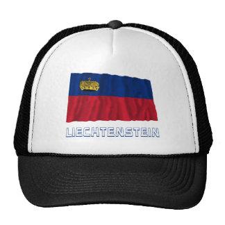 Liechtenstein Waving Flag with Name Mesh Hats