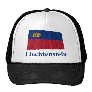 Liechtenstein Waving Flag with Name Hat