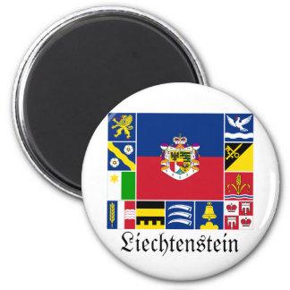 Liechtenstein y sus banderas de Gemeinde Imán Redondo 5 Cm
