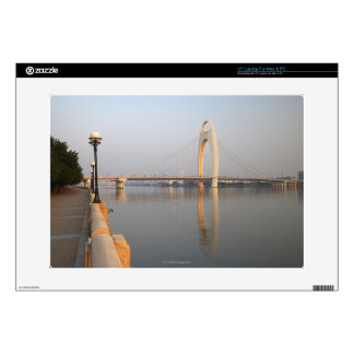 "Liede Bridge Over Pearl River 15"" Laptop Decal"