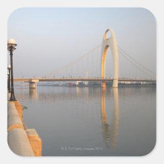 Liede Bridge Over Pearl River Square Sticker