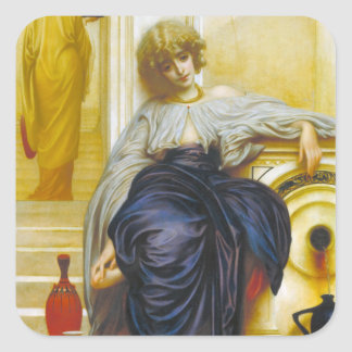 Lieder Ohne Worte - señor Leighton de Frederick Pegatina Cuadrada