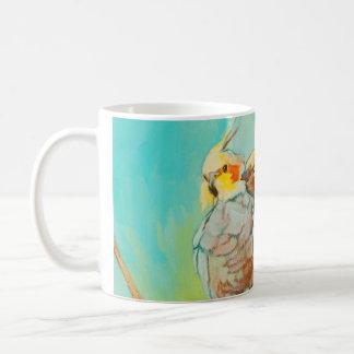 Liefde Parakeets Wraparound Classic White Coffee Mug
