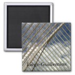 Liège-Guillemins railway station 2 Inch Square Magnet