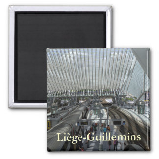 Liège-Guillemins railway station 2 Inch Square Magnet