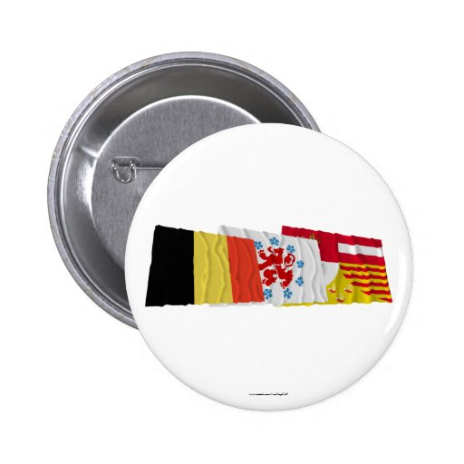 Liège Waving Flags Trio (German) Pin