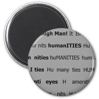 Liendres humanos imán redondo 5 cm