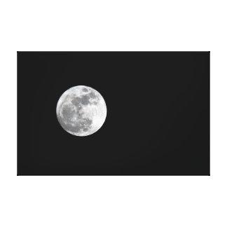 Lienzo con la Luna Llena Impresión En Tela