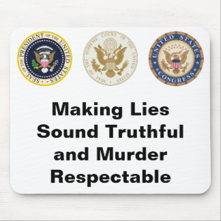 Lies and Murder Mouse Pad