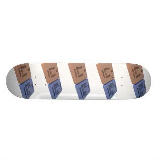 Lies as Li Lithium and Es Einsteinium Custom Skateboard