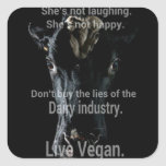 Lies (dairy) Animal Rights design by Marlaina Square Sticker