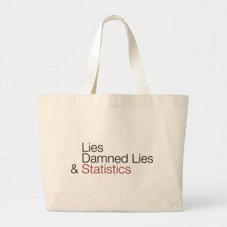 Lies, damned lies, & statistics tote bag