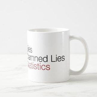 Lies, damned lies, & statistics classic white coffee mug