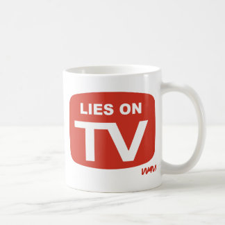 LIES ON TV COFFEE MUG