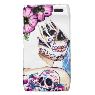 Lies Tattooed Day of the Dead Girl Portrait Droid RAZR Covers