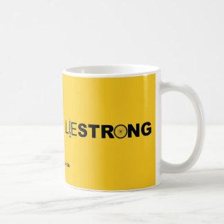 LIESTRONG - Lance Armstrong Taza Básica Blanca
