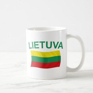 Lietuva (Lithuania) Green Ltrs Coffee Mug
