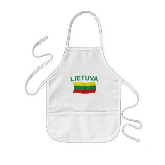 Lietuva (Lithuania) Green Ltrs Kids' Apron