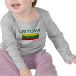 Lietuva (Lithuania) Green Ltrs Tee Shirt