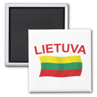 Lietuva (Lithuania) Red Ltrs Magnet