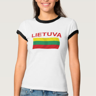 Lietuva (Lithuania) Red Ltrs T-Shirt