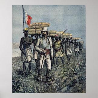 Lieutenant Mizon  on his 1892 Mission Poster