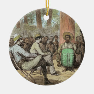 Lieutenant Verney Lovett Cameron's (1844-94) Recep Ceramic Ornament