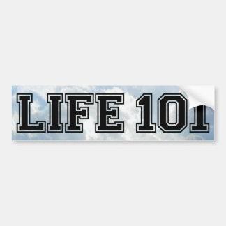 LIFE 101 - Muli Products Bumper Sticker