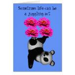 Life A Juggling Act Panda Bear Inspirational Card