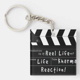 Life, Action, Kharma Keybob Single-Sided Square Acrylic Keychain