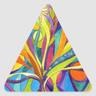 Life Aflame.jpg Triangle Sticker