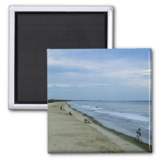 Life Along The Beach 2 Inch Square Magnet