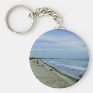 Life Along The Beach Basic Round Button Keychain