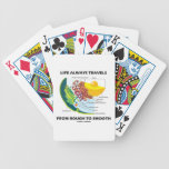 Life Always Travels From Rough To Smooth (Biology) Poker Deck