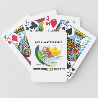 Life Always Travels From Rough To Smooth (Biology) Bicycle Playing Cards