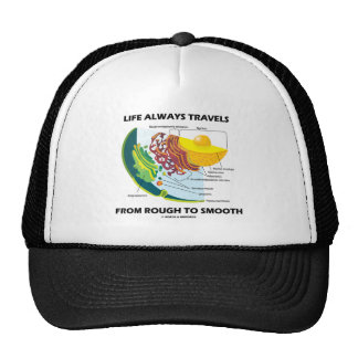 Life Always Travels From Rough To Smooth Mesh Hat