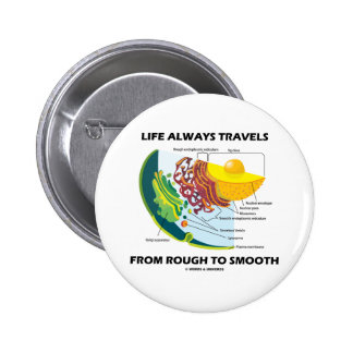 Life Always Travels From Rough To Smooth Pinback Button