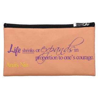 Life - Anais Nin Makeup Bag