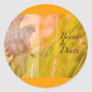 life and beauty classic round sticker