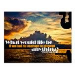 Life and Courage Custom Postcard