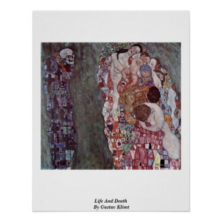 Life And Death By Gustav Klimt Print