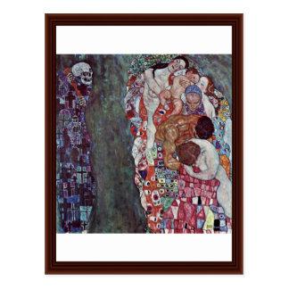 Life And Death By Klimt Gustav Postcard