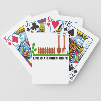 Life and Garden dig it Bicycle Playing Cards