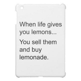 life and its lemons iPad mini cover