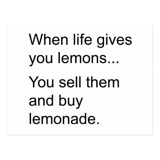 life and its lemons postcard